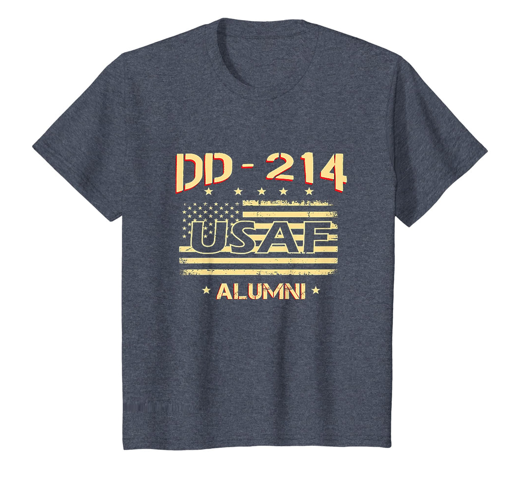 Air Force Alumni DD-214 Vintage American Flag T-Shirt