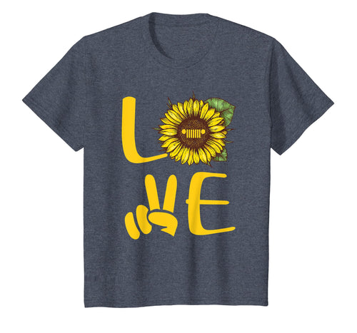 Love Jeep Sunflower Hand T Shirt