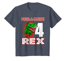 Load image into Gallery viewer, 4th Birthday Boy Dinosaur 4 Years old Gift Four A Saurus Rex