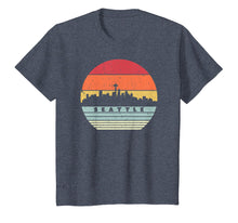 Load image into Gallery viewer, Seattle Souvenir Shirt. Retro Style USA Skyline T-Shirt