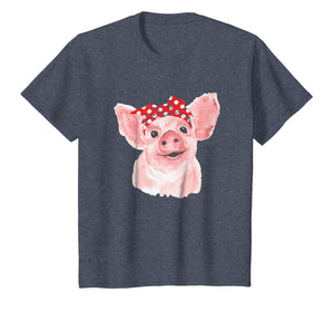 Pig Bandana cute t-shirt for Girl and Women Pig Lover Gifts