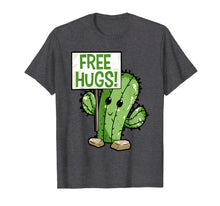 Load image into Gallery viewer, Cactus Free Hugs T-Shirt Cute Cactus Tee for Youth Kids