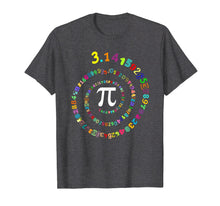 Load image into Gallery viewer, Pi Spiral Novelty T-Shirt for Pi Day Kids Teacher