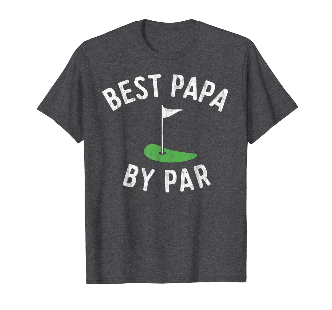 Mens Best Papa By Par Funny Golf Shirt Father's Day Grandpa Gift