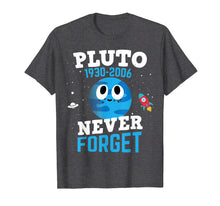 Load image into Gallery viewer, Pluto Never Forget Shirt Astronomy Science Space Geek Shirt