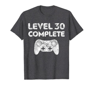 Level 30 Complete T-Shirt Video Gamer 30th Birthday Gift