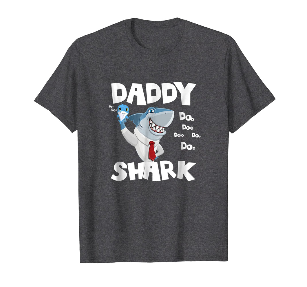 Mens Daddy Shark Shirt Awesome Fathers Day Gifts Tee