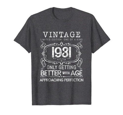 Vintage 1931 Best Funny 88 Year Old 88th Birthday Gift Shirt