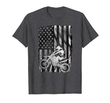 Load image into Gallery viewer, American Flag Motocross Shirt - Vintage Dirt Bike T Shirt