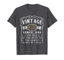 Load image into Gallery viewer, 70 Years Old 1949 Vintage 70th Birthday T Shirt Decorations