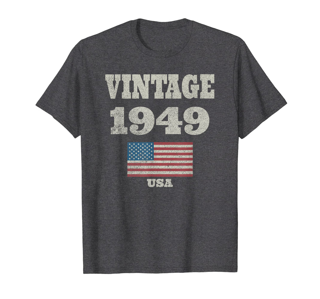 70th Birthday Gift Vintage USA Flag 1949 T-shirt Design