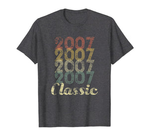 12th Birthday Vintage Gift T-Shirt For Boys Girls Born 2007