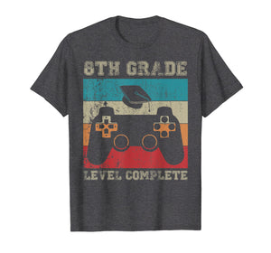 8th Grade Graduation Shirt Level Complete Video Gamer Gifts