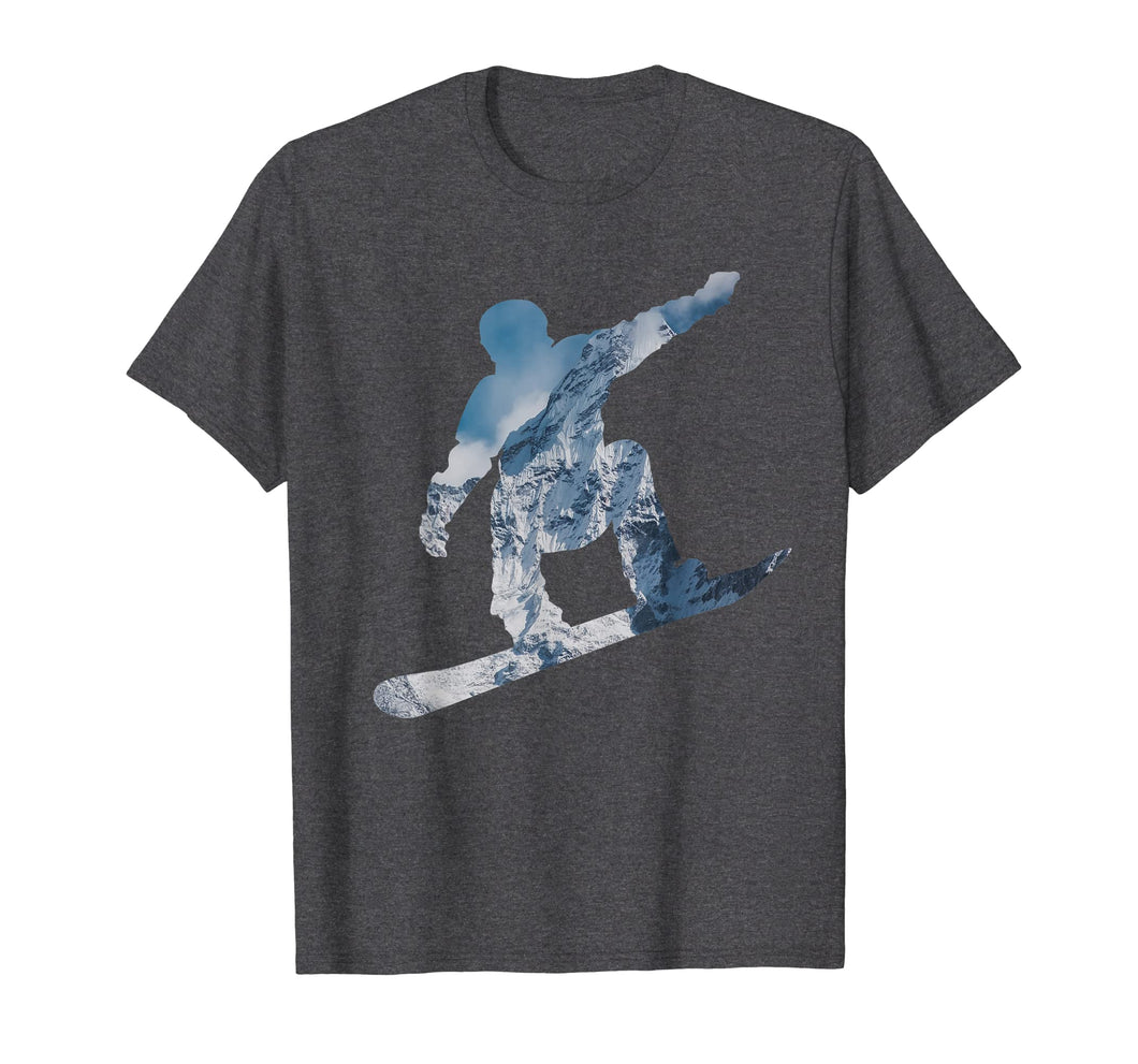 Snowboarding Mountain T Shirt - Gift for Snowboarders