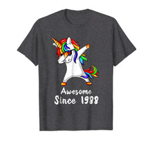 Load image into Gallery viewer, 30 Years Old 30th Birthday Unicorn Dabbing Shirt 1988 Gift