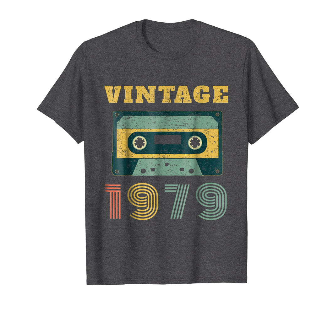 40th Birthday Gift Vintage 1979 Year Old Mixtape T-Shirt