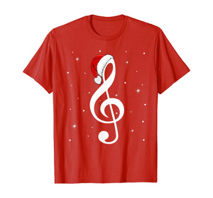 Musical Note Santa Hat Music Lover Merry Christmas Gifts T-Shirt