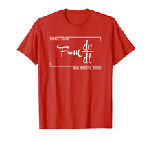 Load image into Gallery viewer, May The F Force Be With You T-shirt Formula Equation For Fun