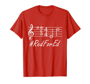 #ReForEd Music Teachers Red For ED Shirt Walkout Protest