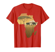 Load image into Gallery viewer, Africa T-Shirt Elephant Map Dad South Animal Big Five Safari