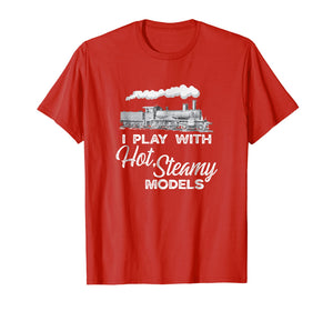 Steam Engine Train Locomotive Model Trains Engineer Shirt