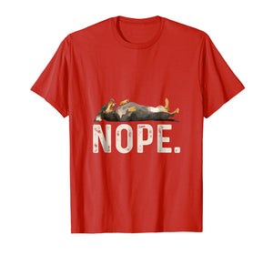 Nope Lazy Dachshund Dog Lover Gift T-Shirt