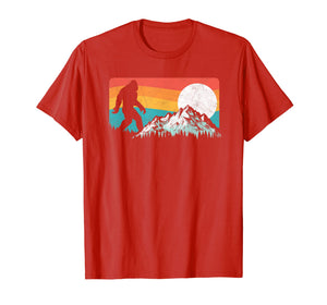Retro Bigfoot Silhouette Rocky Mountains T-Shirt