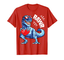 Load image into Gallery viewer, Valentines Day Dinosaur RAWR shirt Gifts Boys Kids Tshirt