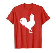 Load image into Gallery viewer, Rooster Santa Hat Merry Christmas Matching Family Pajama T-Shirt