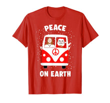 Load image into Gallery viewer, Peace On Earth Santa And Jesus Hippie Fan Christmas Gift T-Shirt
