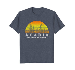 Vintage Acadia National Park Sunset Tee Shirt