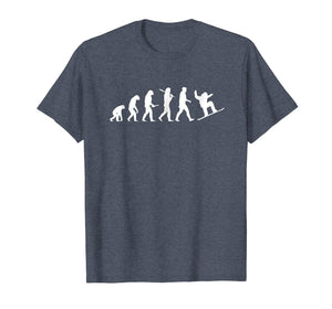 snowboard evolution shirt - from cavemen to a snowboarder