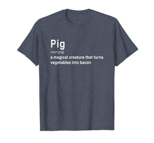 Best Hilarious Pig and Bacon Definition Funny Gift T-Shirt