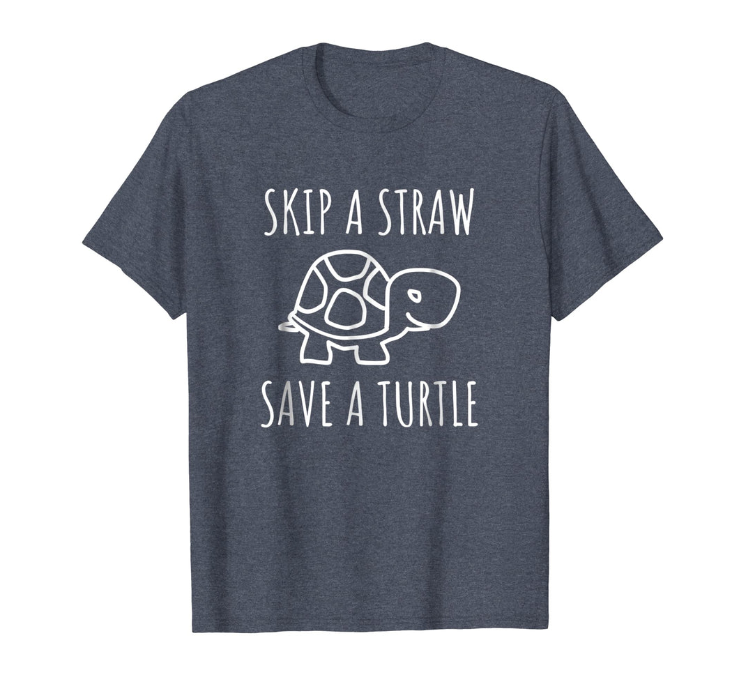 Skip A Straw Save A Turtle Anti Pollution T-Shirt