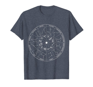 Constellation Shirt Vintage Retro Sky Map T-shirts