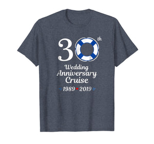 1989 2019 Wedding Anniversary Cruise 30th Tshirt