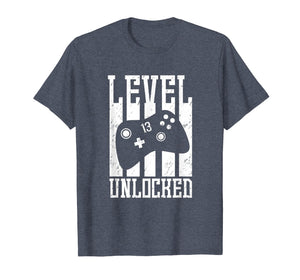 Level 13 Unlocked Shirt - 13th Birthday Video Gamer Gift