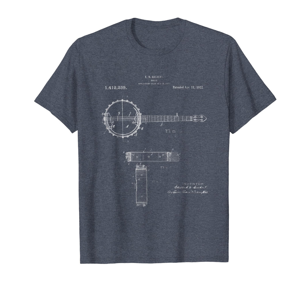 1922 Vintage Banjo T shirt for Banjo Enthusiasts