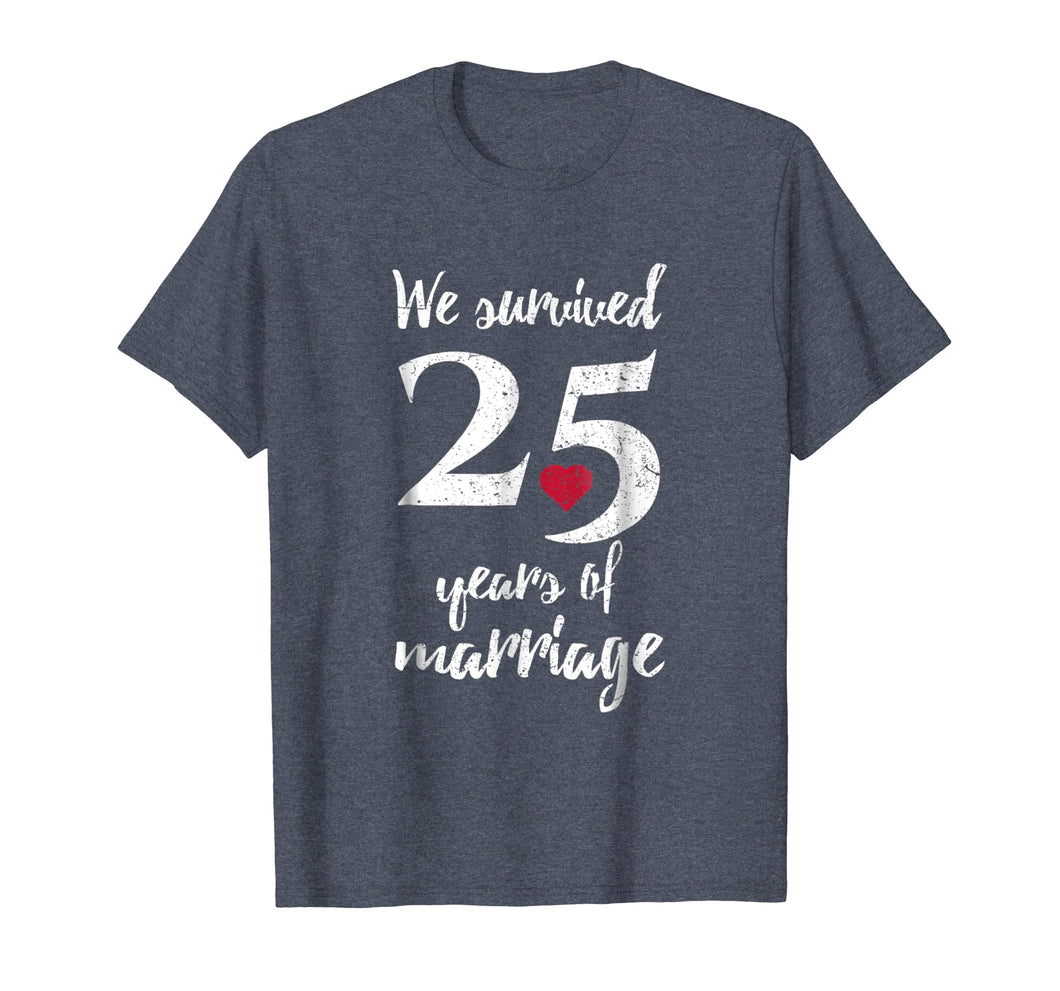 25th Wedding Anniversary T-Shirt Funny Gift For Couples