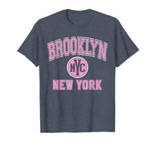 Load image into Gallery viewer, Brooklyn T Shirt - Varsity Style NYC Pink Print