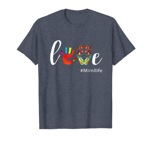 Love Mimi life Shirt Cute Grandma Gift