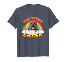 Load image into Gallery viewer, Not Today Satan T-Shirt | Rainbow Cat Death Metal