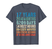 Load image into Gallery viewer, 17 Years Old 17th Birthday Vintage Retro T Shirt 204 Months