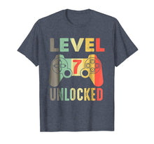 Load image into Gallery viewer, 7th Birthday 7 Years Old Birthday Level 7 Unlocked Gamer Tee