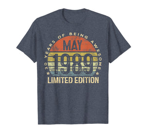 Born May 1989 Limited Edition T-Shirt 30th Birthday Gifts