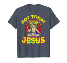 Load image into Gallery viewer, Baphomet Sigil Not Today Jesus Satanic Unicorn T Shirt
