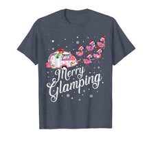Load image into Gallery viewer, Merry Glamping Tee Funny Christmas Flamingo Camper Xmas Gift T-Shirt