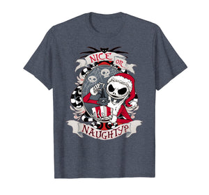Nice or naughty Nightmare Before xmas scary gift T-Shirt