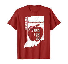 Load image into Gallery viewer, Red For Ed Indiana Paraprofessional Para IN State Rally T-Shirt