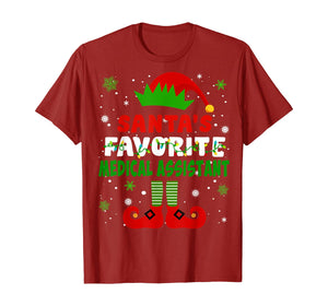 Santa's Favorite Medical Assistant Cute Christmas Gifts T-Shirt